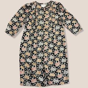 Vintage Plus Size Floral Button Up Maxi Dress 16
